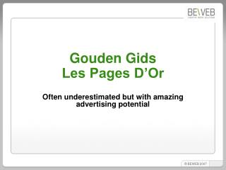 Gouden Gids  Les Pages D'Or