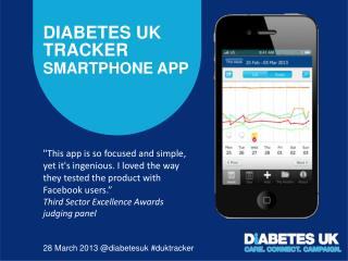 Diabetes UK Tracker  Smartphone app
