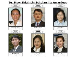 Dr. Mow Shiah Lin Scholarship Awardees