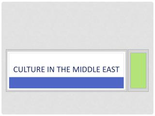 Culture in the Middle East
