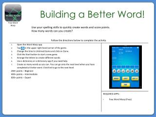 Building a Better Word!
