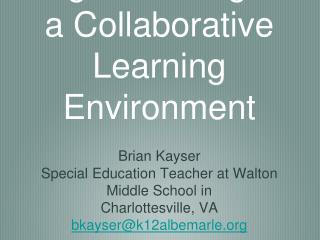 Digital Writing in a Collaborative Learning Environment