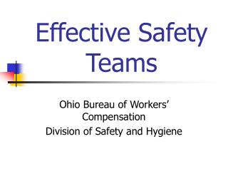Effective Safety Teams