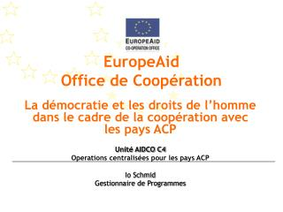 EuropeAid  Office de Coopération