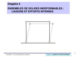 Chapitre 4  ENSEMBLES DE SOLIDES INDEFORMABLES :  LIAISONS ET EFFORTS INTERNES