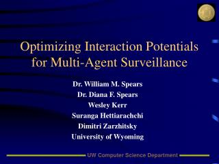 Optimizing Interaction Potentials for Multi-Agent Surveillance