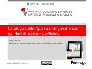 Catalogo delle App su dati.it e uso dei dati di statistica ufficiale