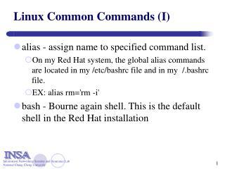 Linux Common Commands (I)