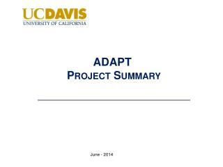 ADAPT  Project Summary