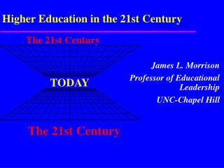 Higher Education in the 21st Century
