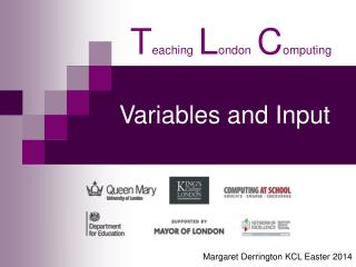 Variables and Input