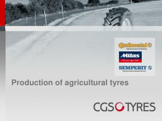 Production of agricultural tyres