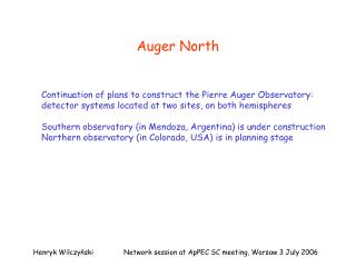 Auger North