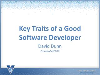 Key Traits of a Good Software Developer