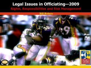Legal Issues in Officiating—2009