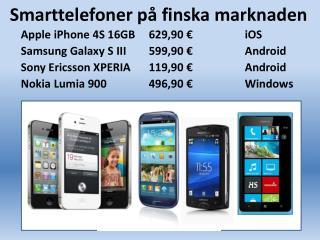 Smarttelefoner på finska marknaden