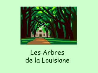 Les Arbres  de la Louisiane