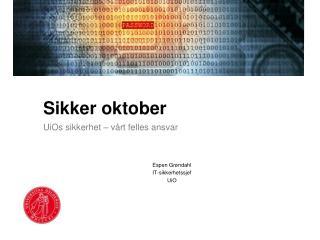 Sikker oktober