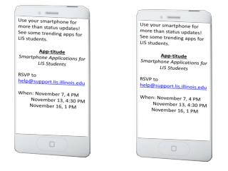 Use your smartphone for more than status updates!  See some trending apps for LIS students.