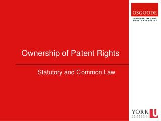 Ownership of Patent Rights