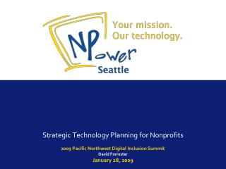 Strategic Technology Planning for Nonprofits