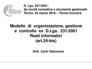 Dott. Carlo Salomone