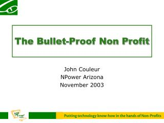 The Bullet-Proof Non Profit