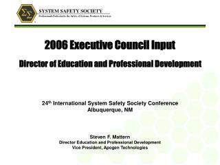 2006 Executive Council Input