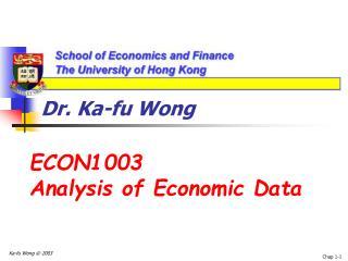 Dr. Ka-fu Wong
