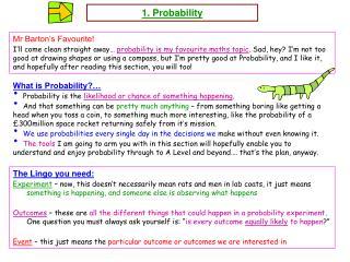 1. Probability