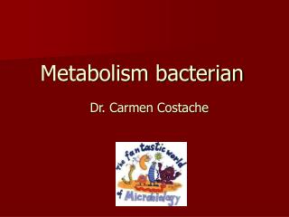 Metabolism bacterian