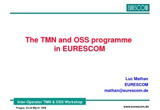 The TMN and OSS programme  in EURESCOM