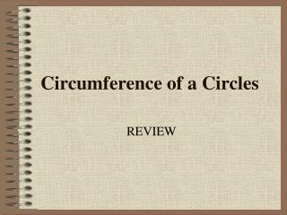 Circumference of a Circles