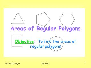 Areas of Regular Polygons