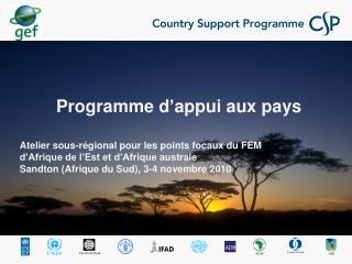 Programme d'appui aux pays / Questions générales