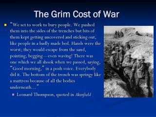The Grim Cost of War