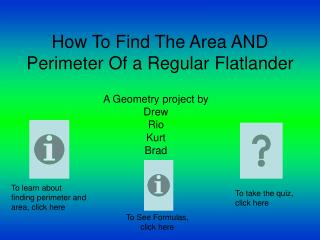 How To Find The Area AND Perimeter Of a Regular Flatlander