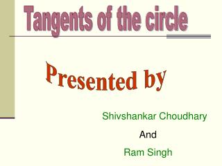 Tangents of the circle