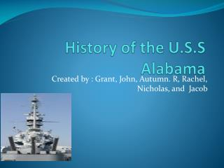 History of the U.S.S Alabama