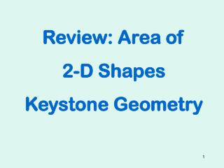 Review:  Area  of  2-D  Shapes Keystone Geometry