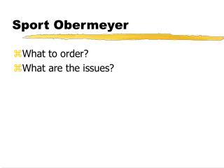 Sport Obermeyer