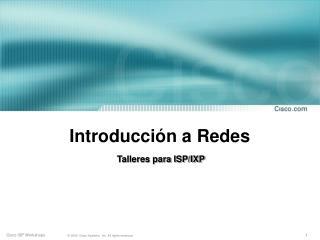 Introducción a Redes