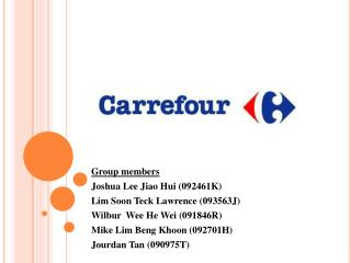 Group members Joshua Lee Jiao  Hui ( 092461K ) Lim Soon  Teck  Lawrence  ( 093563J)
