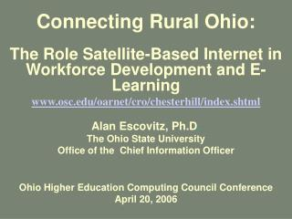Connecting Rural Ohio: