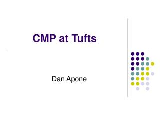 CMP at Tufts