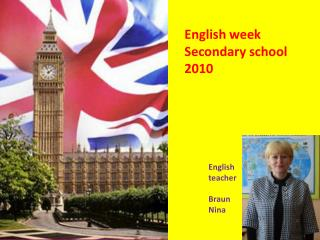English week Secondary school  20 10