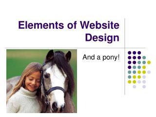 Elements of Website Design