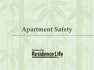 Apartment Safety