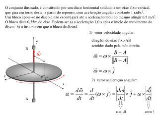 O conjunto ilustrado, é constituído por um disco horizontal soldado a um eixo fixo vertical,