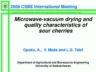 2008 CSBE International Meeting